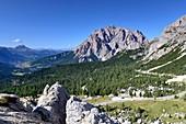 Rifugio on the Valparola pass near St.Kassian, Alta Badia, Dolomites, South Tyrol, Italy
