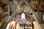 Cloister, Cathedral of Bressanone in Valle Isarco, South Tyrol, Italy