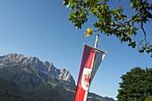 Über Going am Hollenauer Kreuz, Wilder Kaiser, Tirol, Österreich