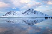 Skagsanden Strand (Flakstad), Lofoten-Inseln, Nordland, Norwegen, Europa
