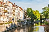 Häuser an der Sava, Ljubljana, Slowenien, Europa