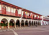 Town Hall, Plaza de la Aduana, Old Town, Cartagena, Bolivar Department, Colombia, South America