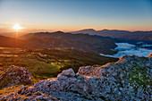 Sunrise on Sibillini mountains, Sibillini National Park, Umbria, Italy, Europe