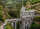 Las Lajas Sanctuary, elevated view, Narino Departmant, Colombia, South America
