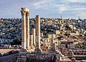 Temple of Hercules ruins, Amman Citadel, Amman Governorate, Jordan, Middle East