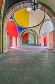 Colorful domes of Hospicio Cabanas, Guadalajara, Jalisco, Mexico