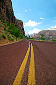 Empty mountain road, Zion, Utah, USA