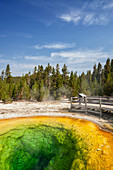 Colorful geyser, Yellowstone National Park, Wyoming, United States