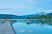 Lakeside Pier at a Lodge Resort, Idaho, United States