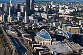 Sports Stadium and Downtown Seattle,Seattle, Washington, United States