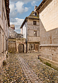 Street in Medieval French Town,Honfleur, Calvados, Normandy, France, Europe