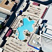 Aerial View of Swimming Pool,Las Vegas, Nevada, United States