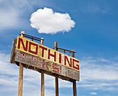 Roadside Billboard,Wikieup, Arizona, United States