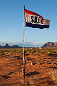 Sale Flag in the Desert,Monument Valley, Arizona, United States