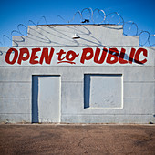 Closed Business With Advertisement,Phoenix, Arizona, United States