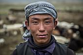 Kirgisischer Junge im Pamir, Afghanistan, Asien
