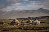 Kirgisische Siedlung im Pamir, Afghanistan, Asien