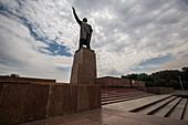 Statue of Lenin in Osh, Kyrgyzstan, Asia