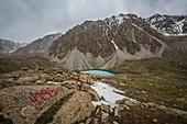 Trekking im Alaigebirge, Kirgistan, Asien