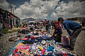Weekly market in Sary Mogul, Kyrgyzstan, Asia