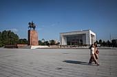 Ala Too square in Bishkek, Kyrgyzstan, Asia