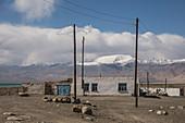 Settlement Karakul in Pamir, Tajikistan, Asia