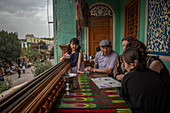Teahouse in Kashgar, China, Asia