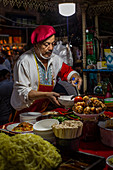 Night market in Kashgar, China, Asia