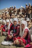 Kyrgyz women at Lake Karakol in Pamir, China, Asia