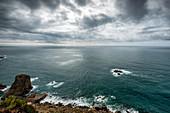 View of the sea at Cabo da Roca, Colares, Portugal