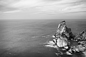View from above on the rocks from Praia da Ursa beach, Colares, Sintra, Portugal