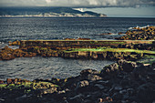 Pool on the island of Pico, Pico, Azores, Portugal, Atlantic, Atlantic Ocean, Europe,