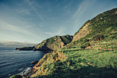 Bay on the island of Flores, Azores, Portugal, Atlantic, Atlantic Ocean, Europe,