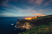 Coast at night in the Azores, Sao Miguel, Azores, Portugal, Atlantic Ocean, Atlantic Ocean, Europe,
