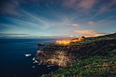 Küste bei Nacht auf den Azoren, Sao Miguel, Azoren, Portugal, Atlantik, Atlantischer Ozean, Europa