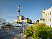 District heating Spittelau, 9th district Alsergrund, Vienna, Austria