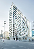 DC Living residential building, Donaustadt, Donauinsel, 22nd district, Vienna, Austria