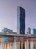 Meliá Tower, Skyline Wien Donaustadt, Donauinsel, 22nd District, Vienna, Austria