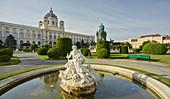 Kunsthistorisches Museum, Tritonenbrunnen, Maria-Theresien-Platz, 1st District, Inner City, Vienna, Austria