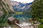 Bootshaus am Obersee, Berchtesgadener Land, Bayern