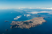 Die Insel Porto Santo aus der Luft, Portugal