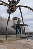 Spider sculpture in front of the Guggenheim Museum, Bilbao, Spain