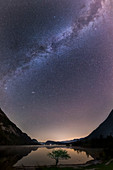 Milky Way over Lake Bohinj, Triglav National Park, Slovenia