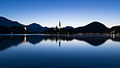 Church on the island in Lake Bled, Slovenia