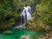Slap Sum, Vintgar Klamm, Bled, Oberkrain, Slowenien