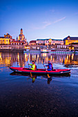 Kayak tour on the Elbe in Dresden, Germany