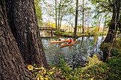 Autumn canoe tour in Spreewald, Germany
