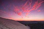 Die Dune de Pilat bei Sonnenaufgang, Aquitanien, Frankreich