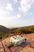 Picknick in der Nähe von Maison des Arganiers, Marokko