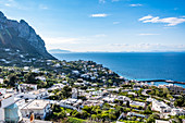 View of Marina Grande and the sea from Capri, Capri Island, Gulf of Naples, Italy